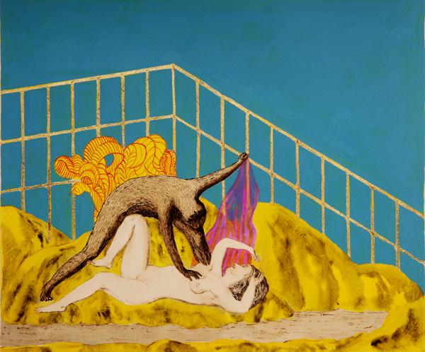 Ettore Tripodi - gatto giace con donna